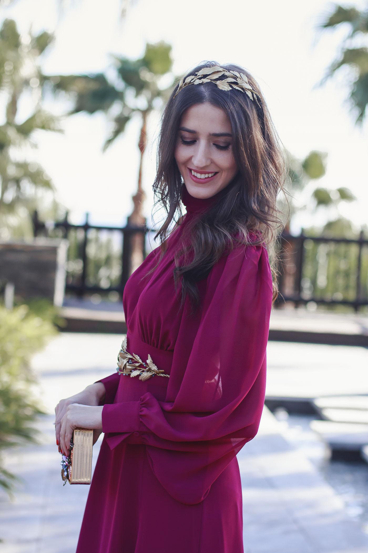 Bonito Vestido Rojo Y Marfil De La Boda Componente - Vestido de ...