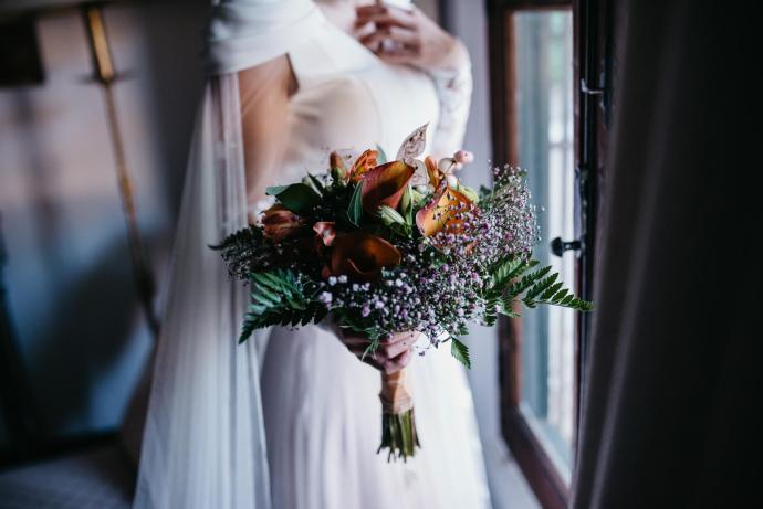 boda perro diseño medieval novia