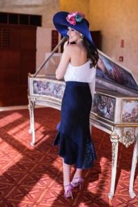 Look invitada boda comunión bautizo conjunto falda blusa plumeti