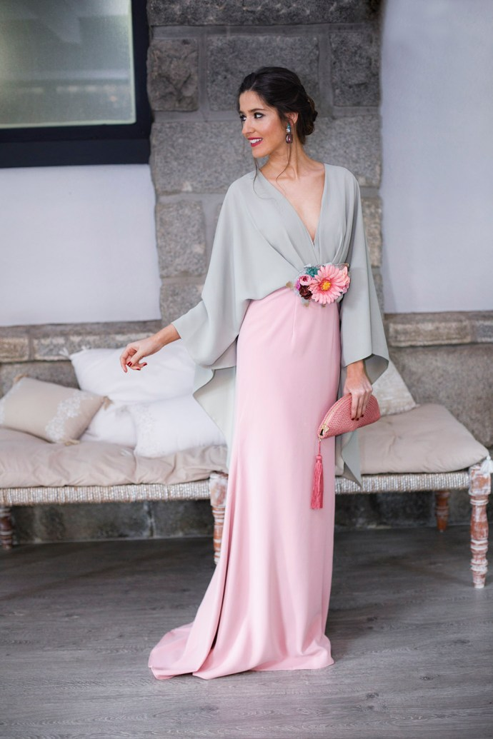 Look invitada perfecta 2018 vestido largo hermana novia
