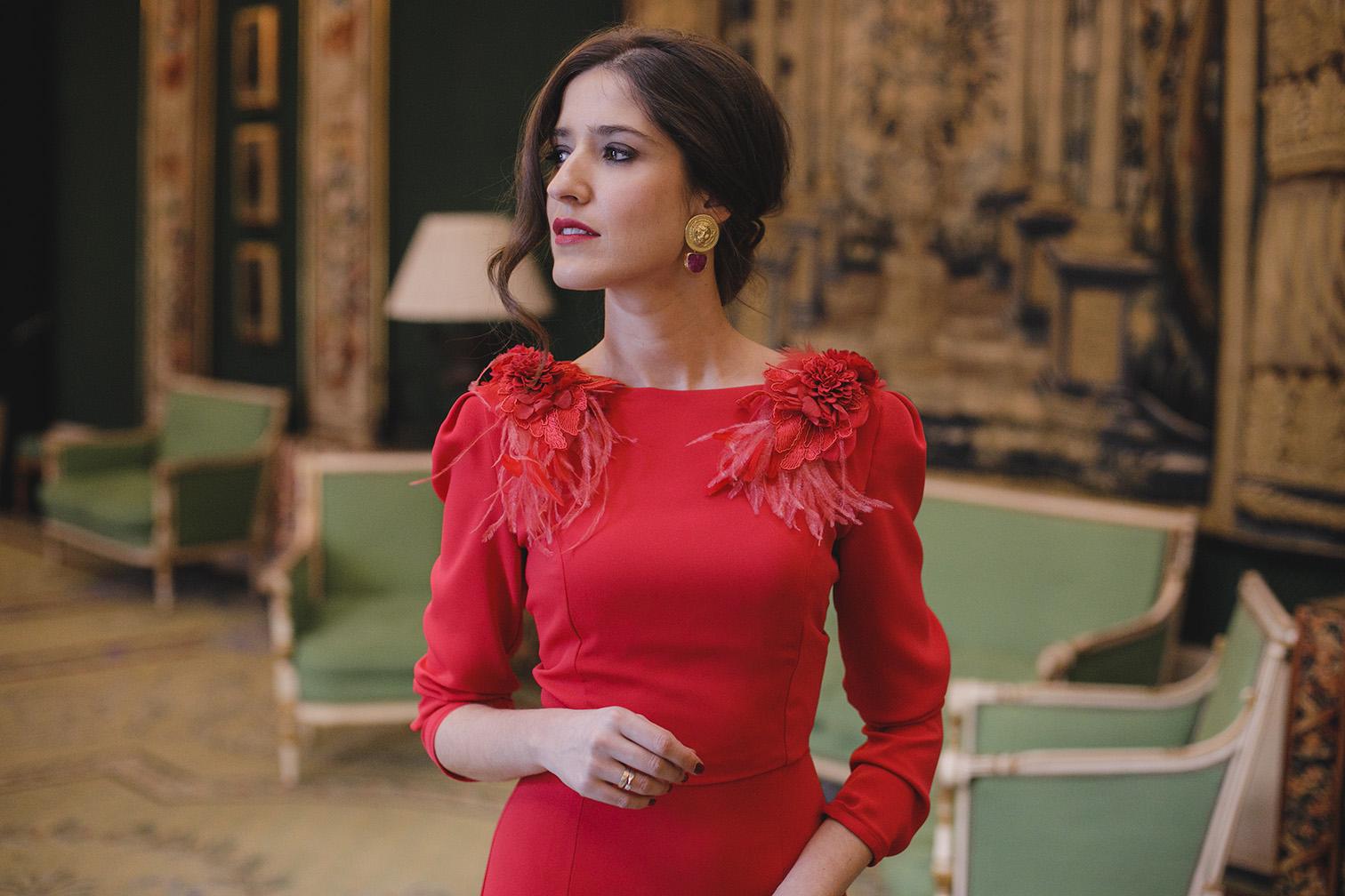 Vestido rojo invitada boda noche