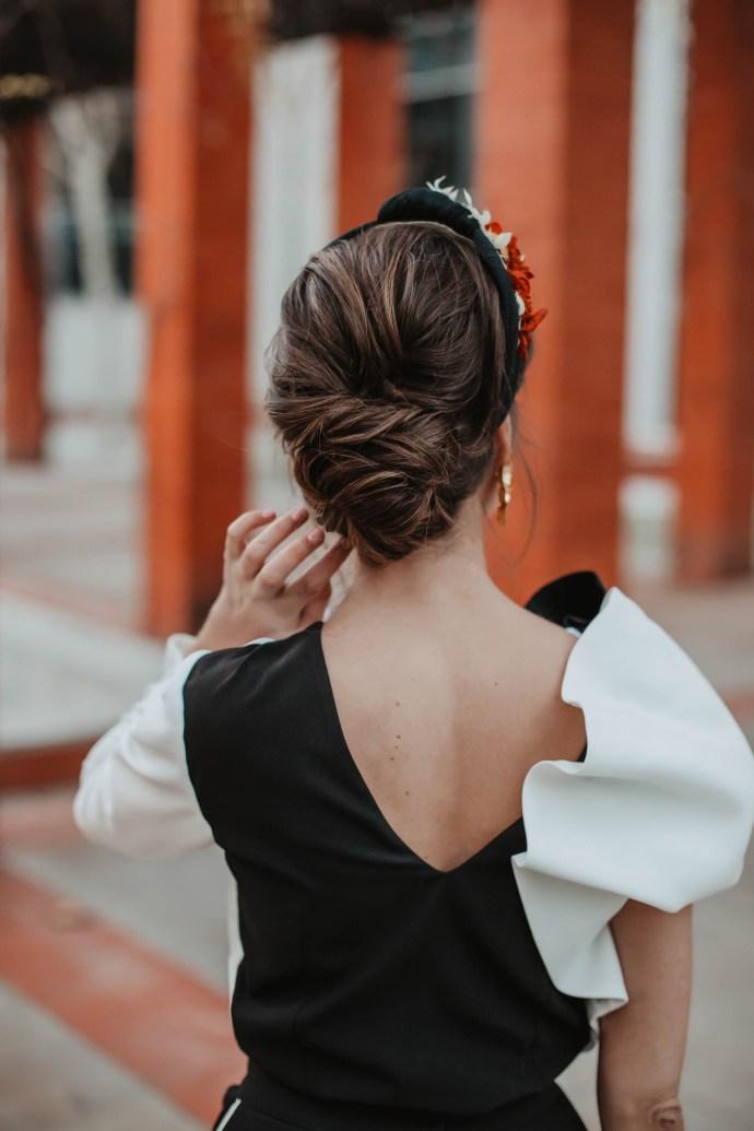 Recogido novia invitada peinado 2019
