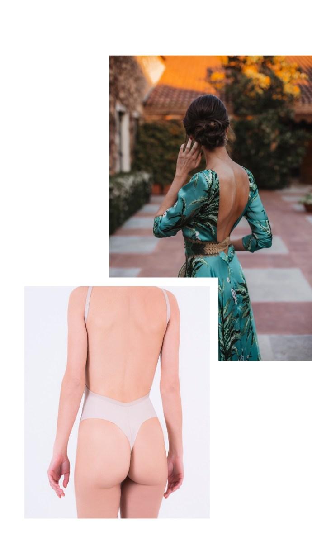 body sin espalda invitada novia