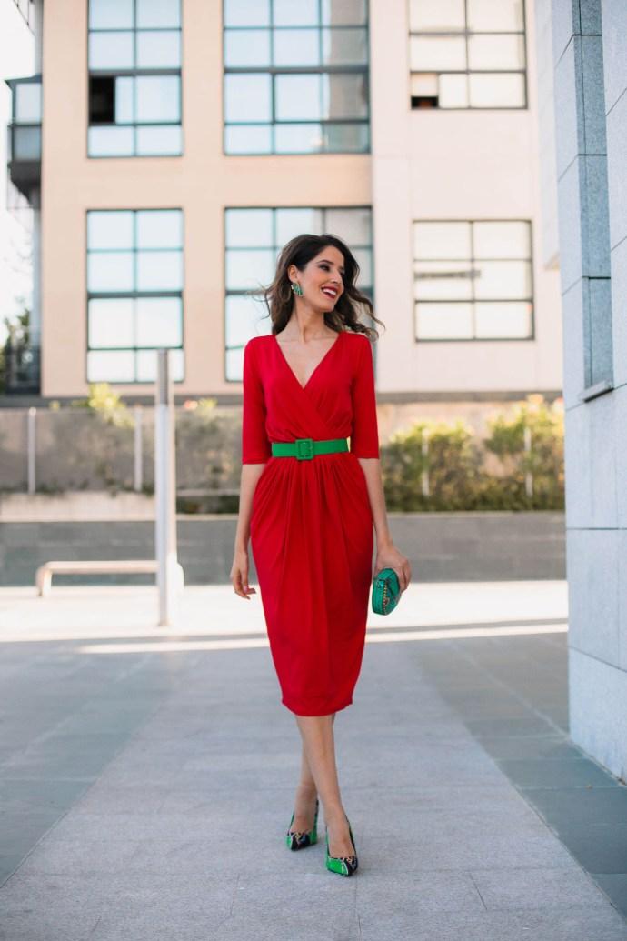 vestido rojo invitada comunion boda
