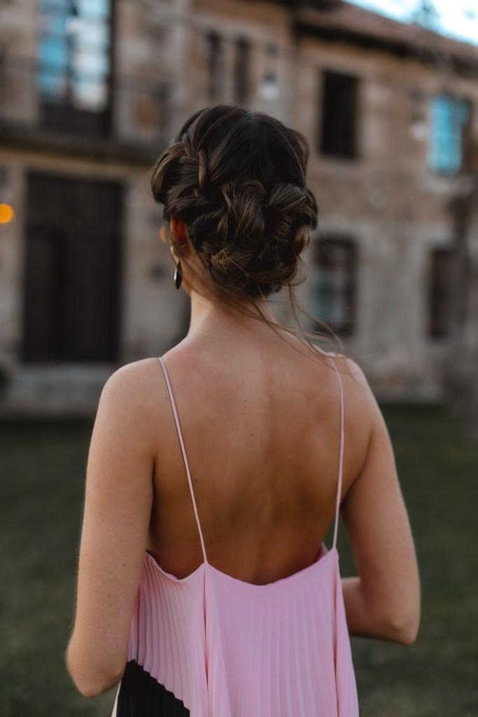 peinado novia invitada recogido trenzado
