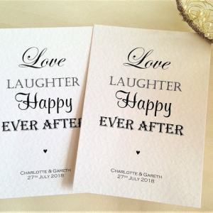 Love Laughter Happy Ever After Postcard Wedding Invitations