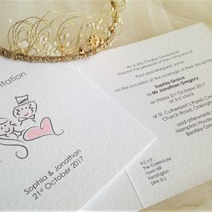 Bride and Groom Centre Fold Invites