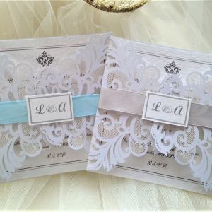 Baroque Laser Cut Wedding Invitations