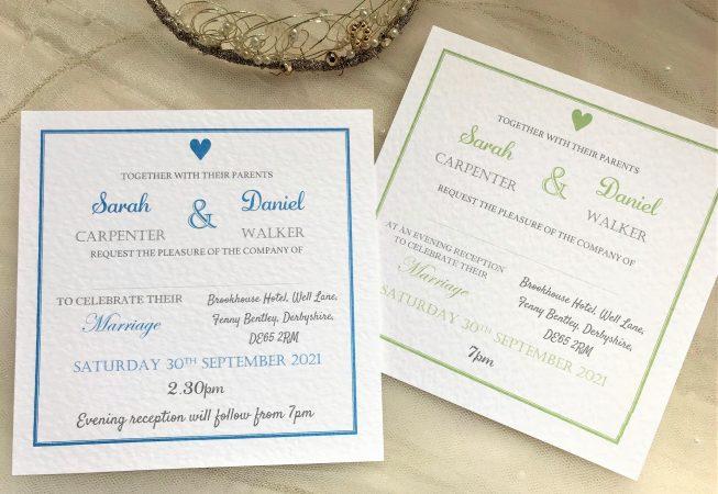 York Square Wedding Invitations