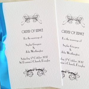 Art Deco Wedding Order of Service Books