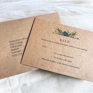 Autumn Leaf RSVP cards and envelopes