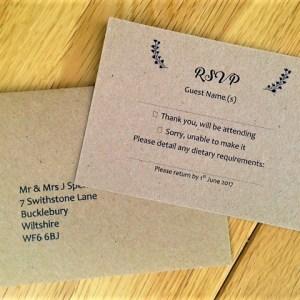 Vintage RSVP Cards and Envelopes