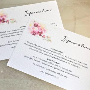 Oriental Orchid Information Cards