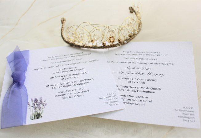 Lavender Square Wedding Invitations