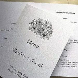 Lily Menu Booklets