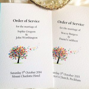 Love Tree Wedding Order of Service Books