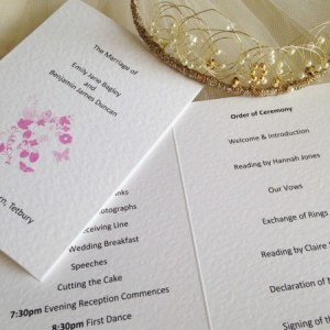 Pink Butterfly Order of Service Books
