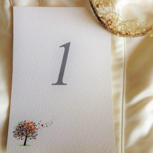 Love Tree Table Name and Table Number Cards