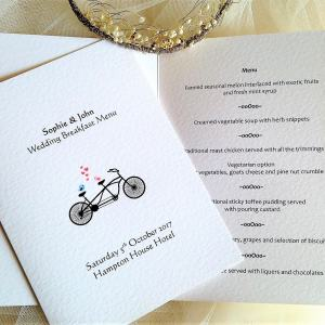 Tandem Bike Menu Booklet