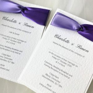 Two Tone Satin Wedding Invitations