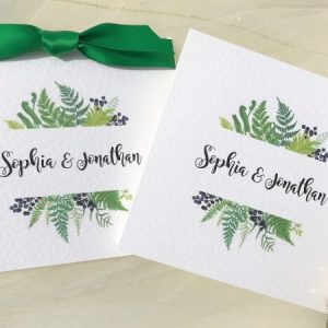 Woodland Fern Pocketfold Invites