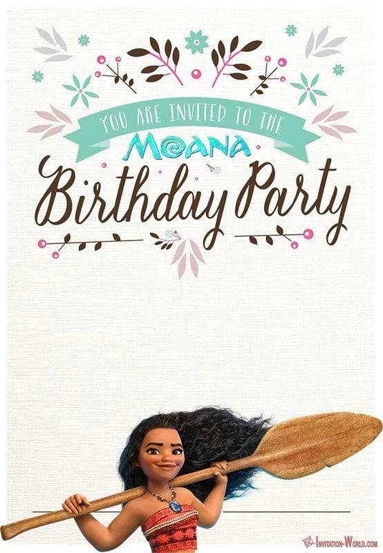 printable moana birthday invitation