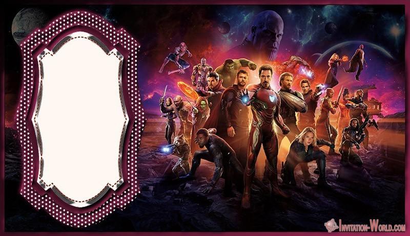 free avengers template invitation world