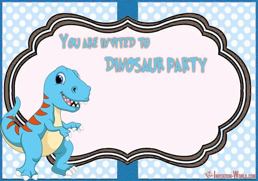 dinosaur party invitation invitation