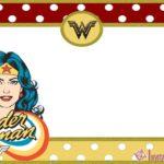 wonder woman invitation card