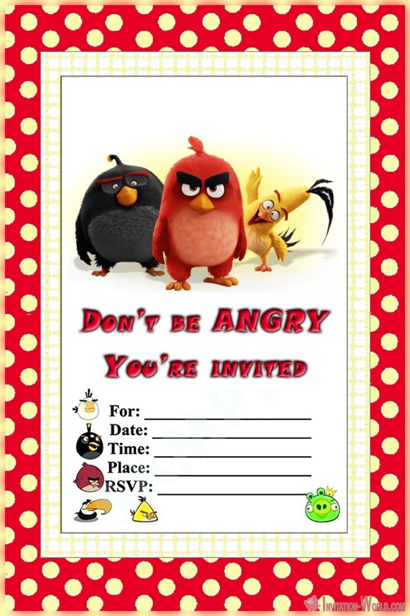 free angry birds invitation templates