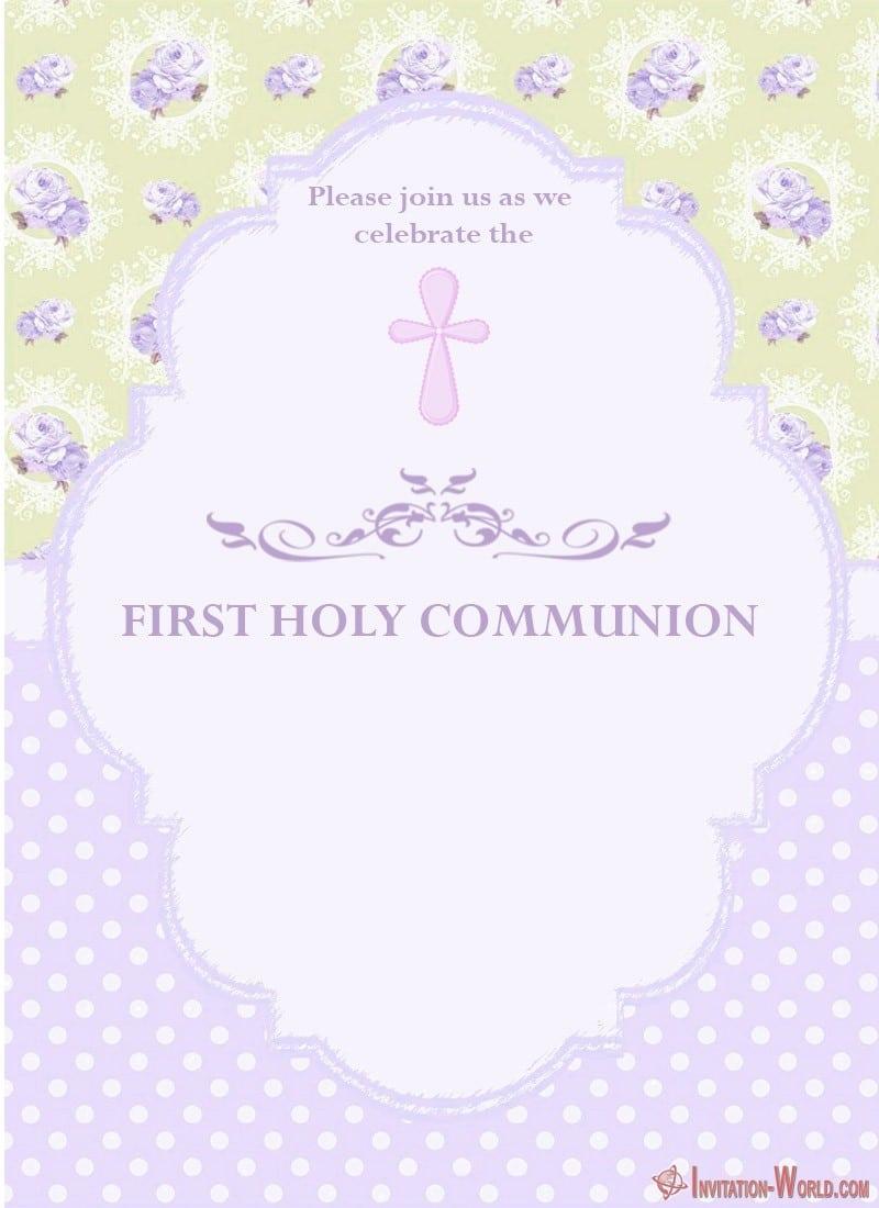 first holy communion invitation free
