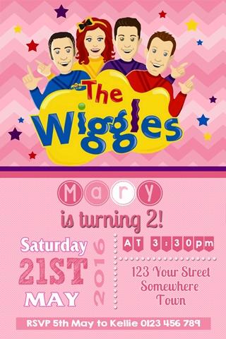 wiggles invites invitations 4 kids