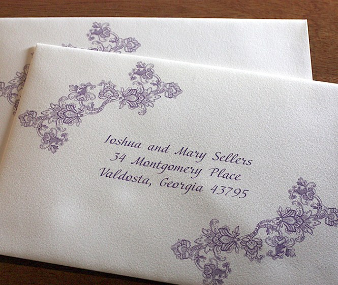 Wedding Invitations Kleinfeld Paper Can Print Your Return Address