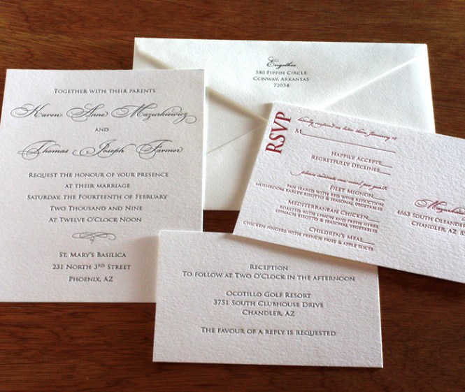 Paper Thickness Comparison Letterpress Wedding Invitations Affordable