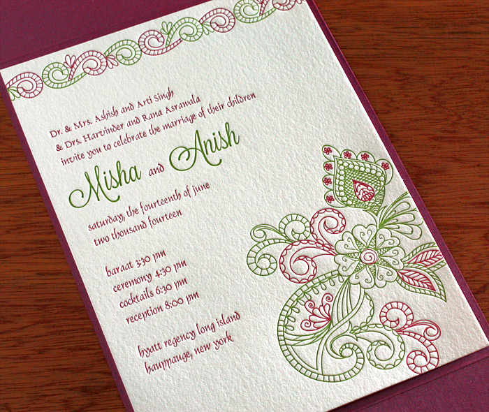 Indian Wedding Invitation Design Gallery Misha Invitations By Ajalon