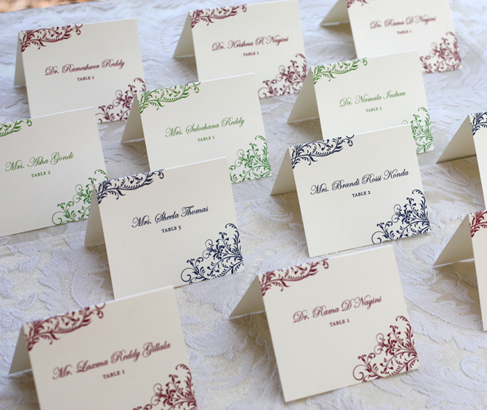 Elegant Tented Wedding Dinner Custom Cards With Names Table Ignments
