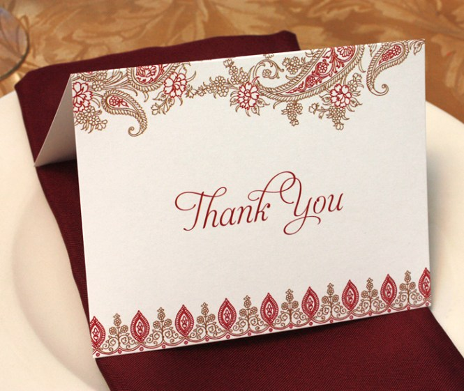 Thank You Cards For Wedding Celebrations Letterpress
