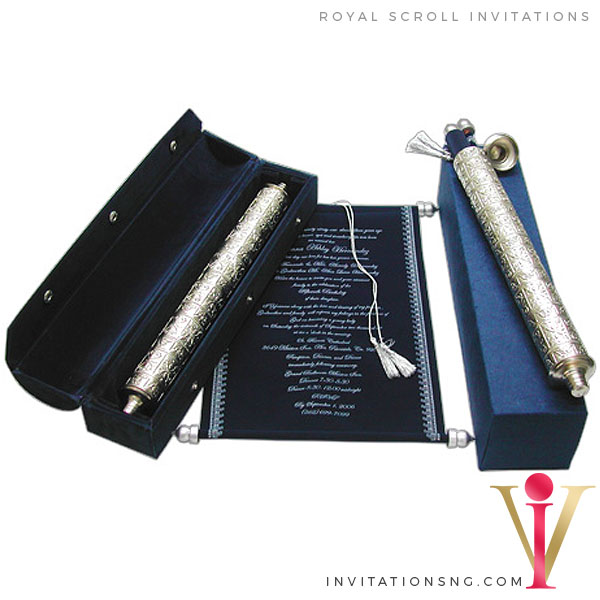 Exquisite Scroll Invitation S24 in Nigeria at invitationsng.com