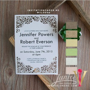 Flat Laser Cut Invitation Card WFL0099 is now available at invitationsng.com. Call 08173093902