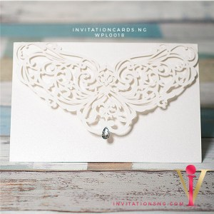 White Diamond Laser Cut Invitation Card WPL0018 is now available at invitationsng.com. Call 08173093902