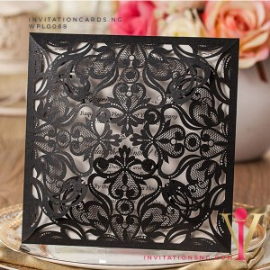 Black Floral Laser Cut Invitation Card WPL0068 is now available at invitationsng.com. Call 08173093902