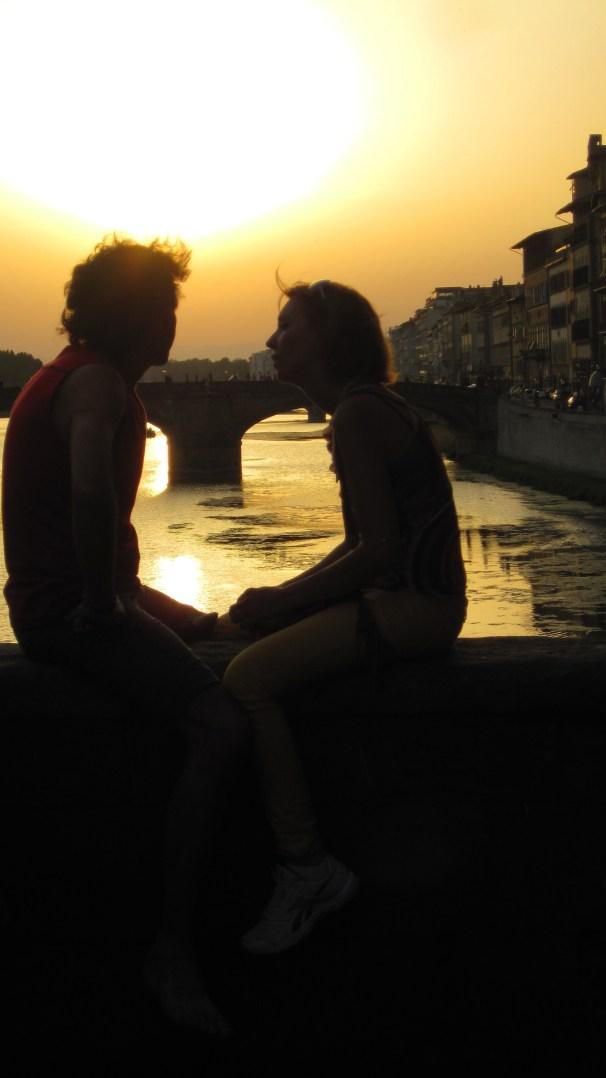 Lovers on the Ponte Vecchio
