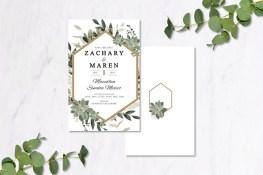 Gold Eucalyptus Invitations