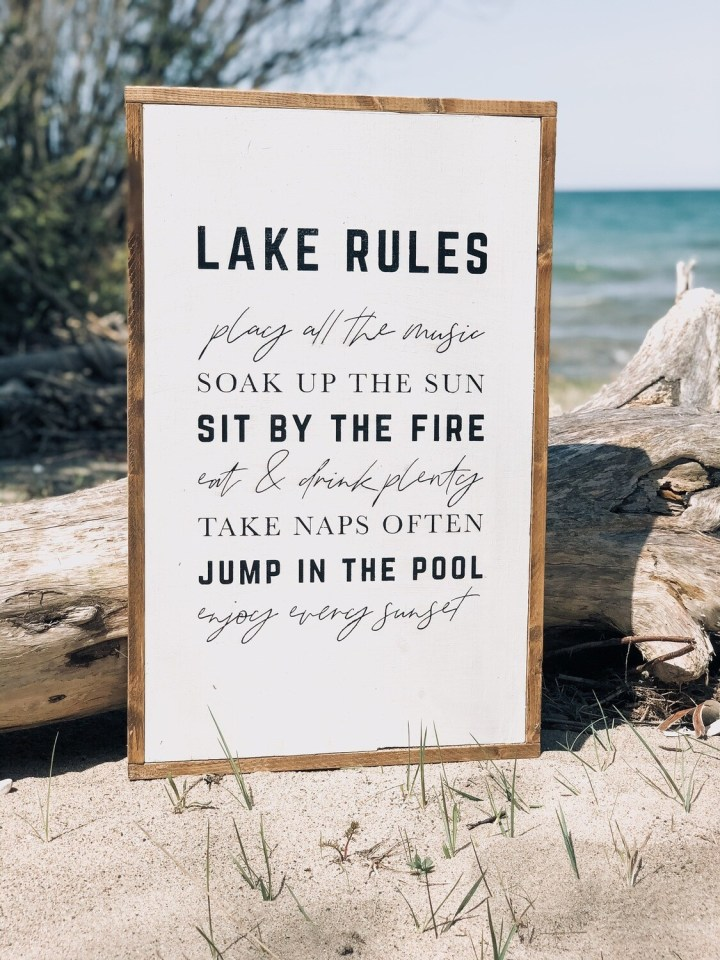 Lake Rules Sign