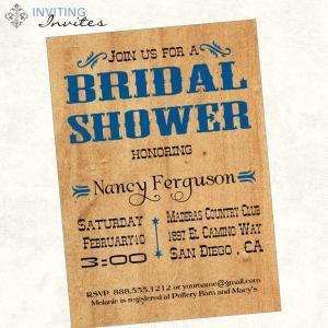 Rustic Bridal Shower