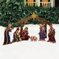 Outdoor Nativity Scene and Nativity Sets Yard Decorations ...