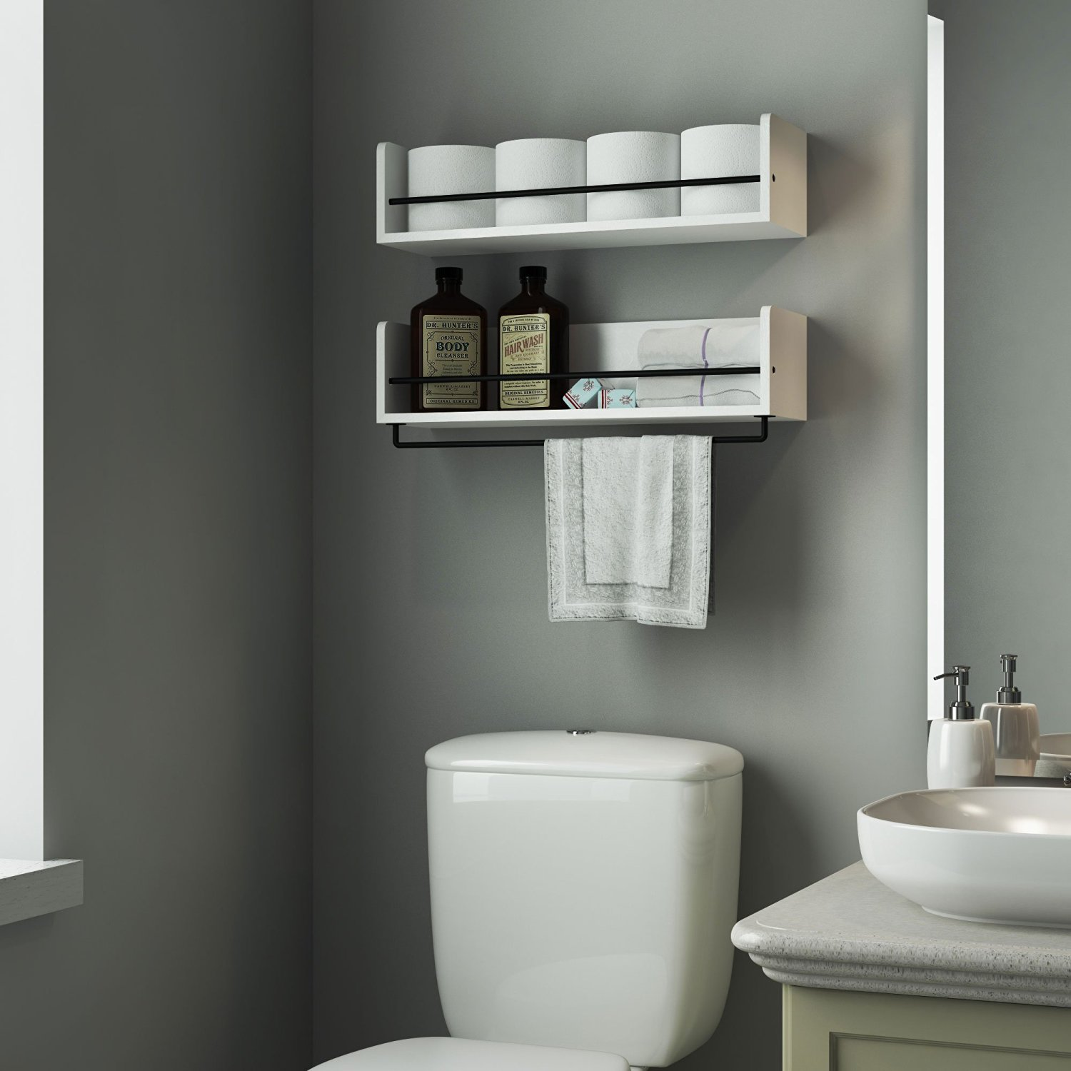 Bathroom Shelves  Beautiful and Easy DIY Bathroom Space
