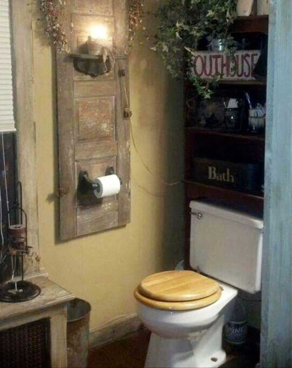 Country Outhouse Bathroom Decorating Ideas  Outhouse
