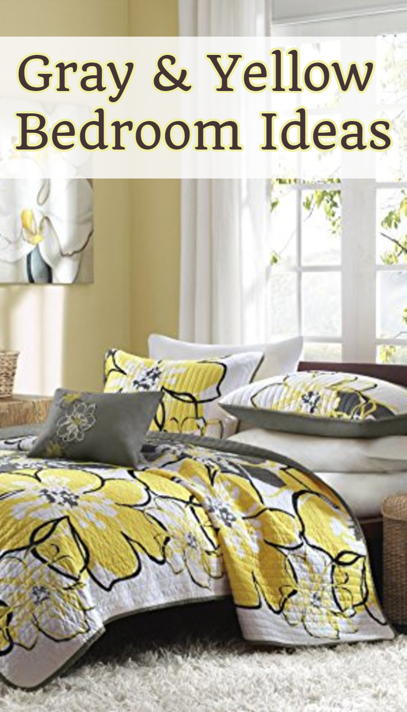 gray and yellow bedding & bedroom decor ideas we love - involvery