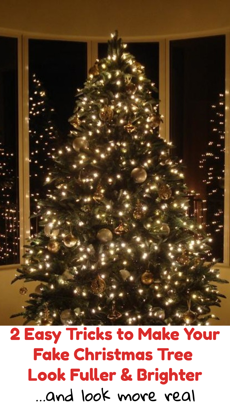 2 easy tricks to make your fake christmas tree look fuller brighter and more real - Fake Christmas Trees